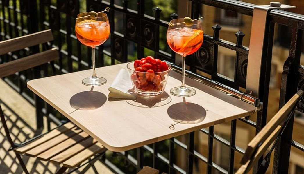 OSO SYSTEM Table balcon Tables de jardin Jardin Mobilier  |