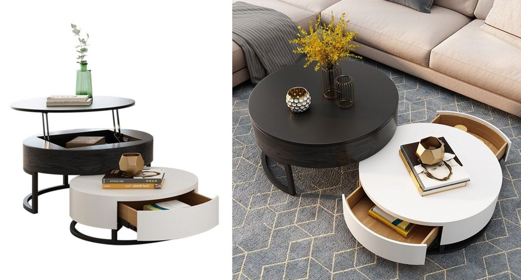 HOMARY Table basse ronde Tables basses Tables & divers  |