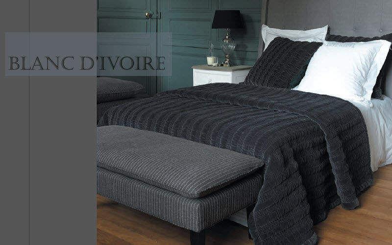 BLANC D'IVOIRE Couvre-lit Couvre-lits Linge de Maison Chambre | Design Contemporain