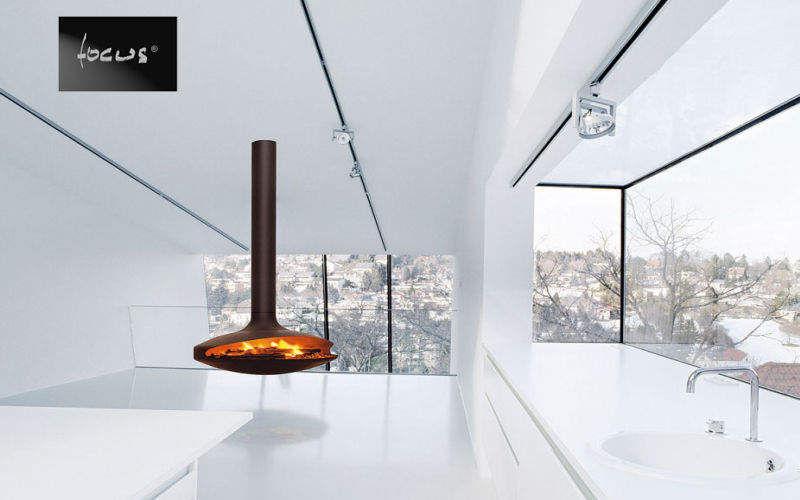 Focus Cheminée centrale Cheminées Cheminée Cuisine | Design