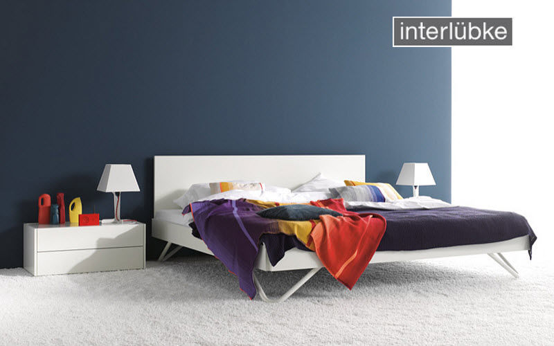 Interlübke Lit double Lits doubles Lit Chambre | Design Contemporain
