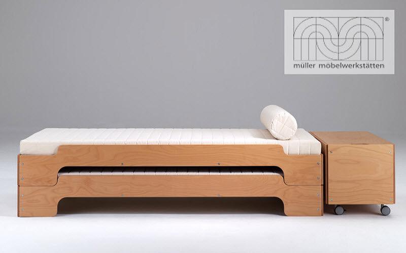 Lits gigognes lits simples decofinder - Lit en bois pliant pas cher ...