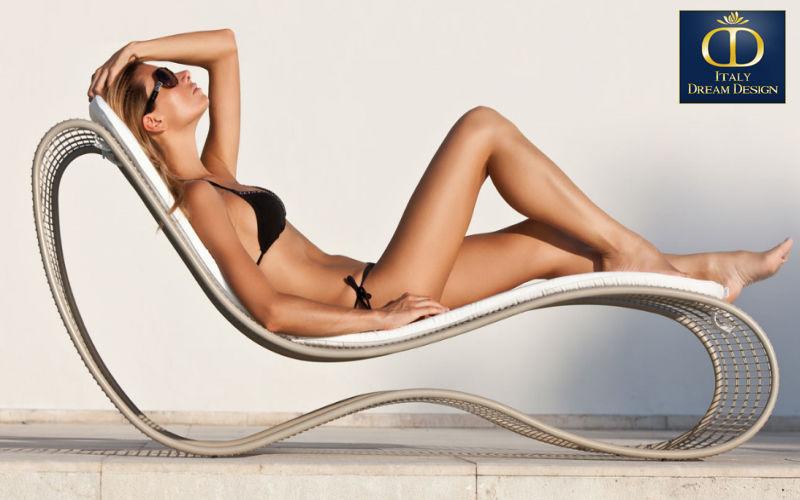ITALY DREAM DESIGN Bain de soleil Chaises longues Jardin Mobilier   