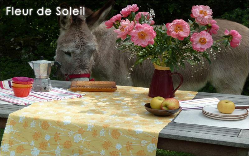 FLEUR DE SOLEIL Chemin de table Nappes Linge de Table  |