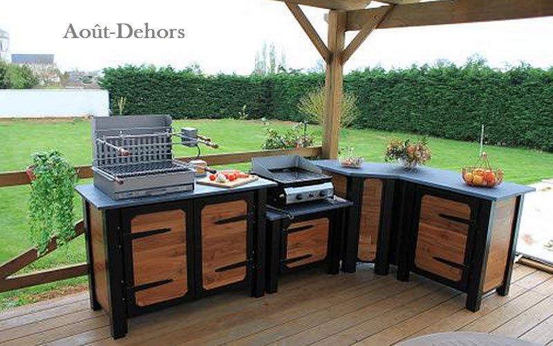 Plan de travail cuisine extrieure terrasse quipe du0027un - Fabriquer plan de travail cuisine ...