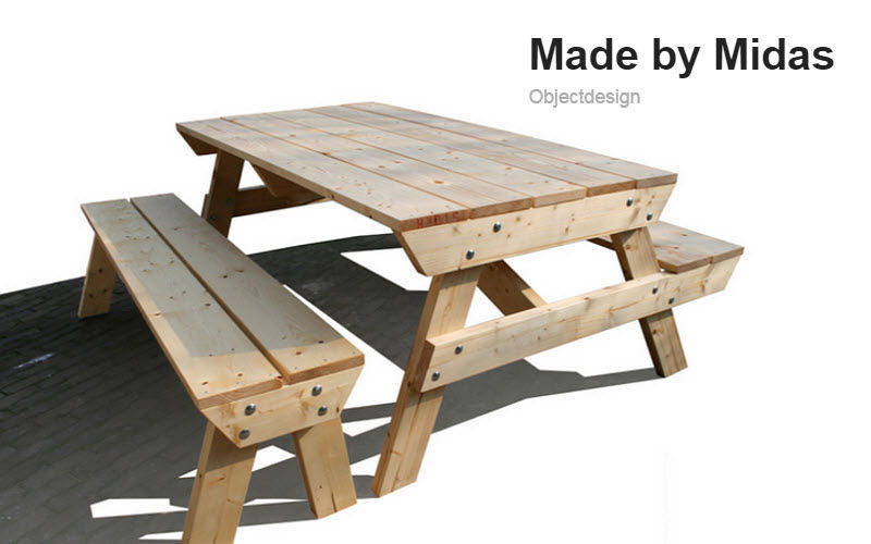 MADE BY MIDAS Table pique-nique Tables de jardin Jardin Mobilier  |