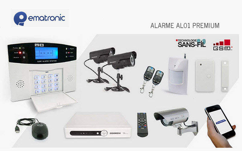 EMATRONIC Alarme anti-intrusion Alarmes Domotique  |