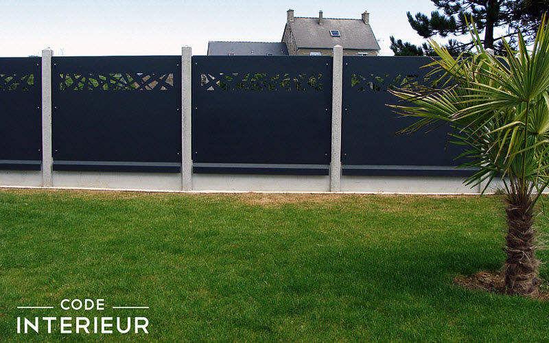 CODE INTERIEUR Clôture ajourée Clôtures Bordures Jardin Abris Portails...  |
