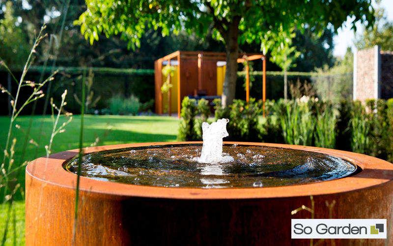 SO GARDEN Fontaine centrale d'extérieur Fontaines Jardin Bacs Pots  |