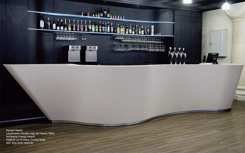 Comptoir de bar bars decofinder for Meuble comptoir bar professionnel