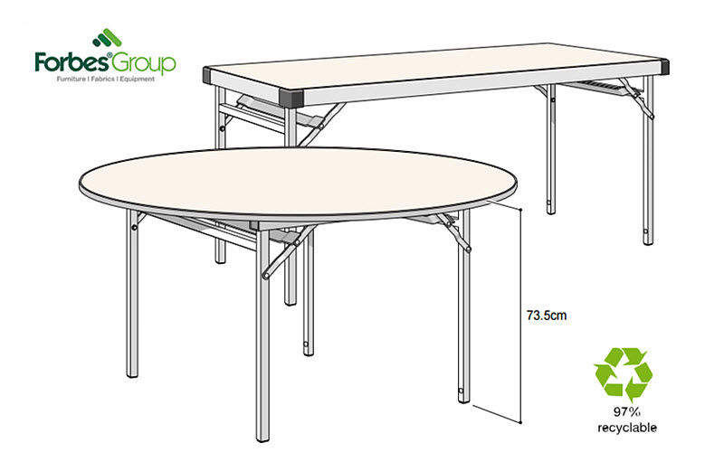 Forbes Group Table pliante Tables de repas Tables & divers  |