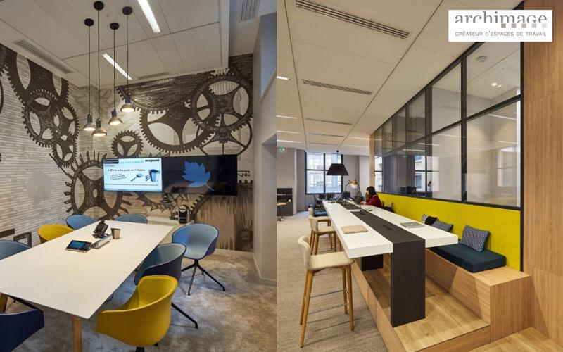 ARCHIMAGE Agencement de bureau Réalisations d'architecte d'intérieur Maisons individuelles  |