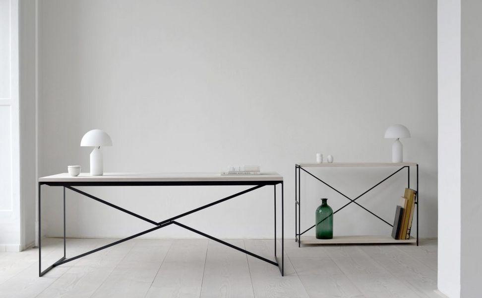 Cascade lucite vanity u table acrylique console coin tables