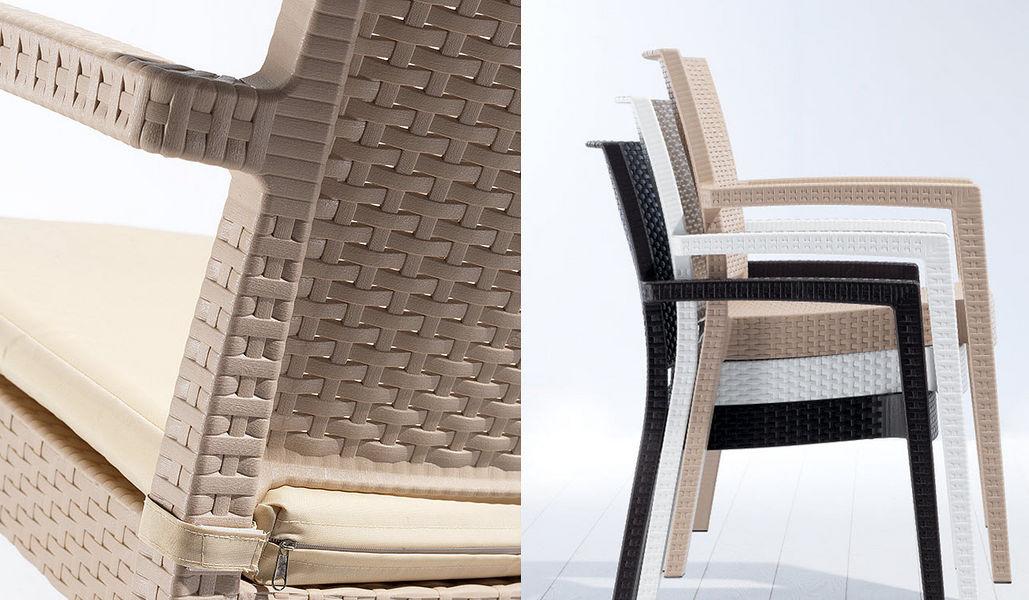 NOVUSSI Chaise de jardin empilable Chaises de jardin Jardin Mobilier  |