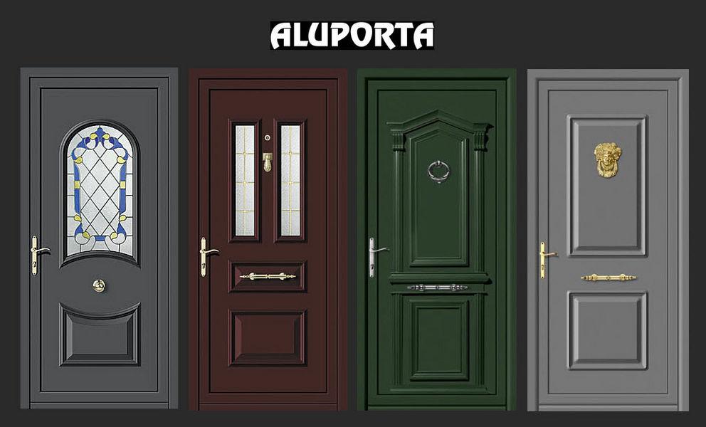 Aluporta Porte d'entrée vitrée Portes Portes et Fenêtres  |