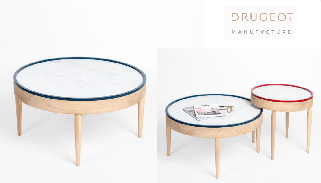 DRUGEOT Manufacture Table basse ronde Tables basses Tables & divers  |
