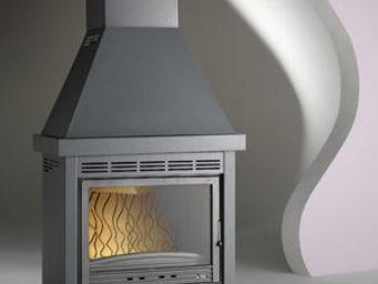INVICTA - fourneau conçu en bois doncheville de monté 14kw 8 - Foyer De Cheminée À Porte Escamotable