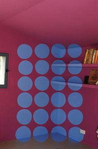 Fabienne Colin - les galets bleus - Fresque