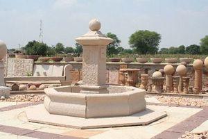 Fontaine centrale d'extérieur