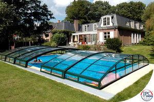 Abri de piscine bas coulissant ou télescopique