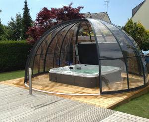 Abri de piscine haut coulissant ou télescopique-AlphaCover-Spa Tonda