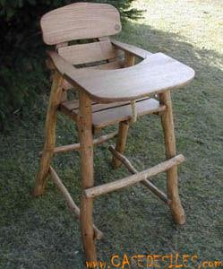 Case des iles - fauteuil b�b� en bois massif - Chaise Haute Enfant