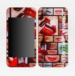 JOHANNA L COLLAGES - skins iphone 4 j'aime ta bouche - Coque De Téléphone Portable