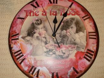 au petit coeur d'amour -  - Horloge Murale