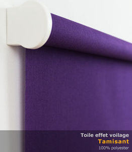 Stores Discount - store enrouleur effet voilage violet foncé sur mes - Store Enrouleur