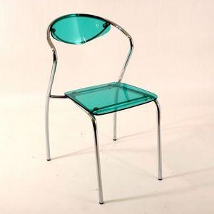 Smart Boutique Design - chaise plexiglass malibu verte lot de 4 - Chaise