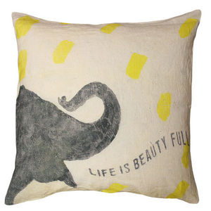 Sugarboo Designs - pillow collection - smart elephant - Coussin Enfant