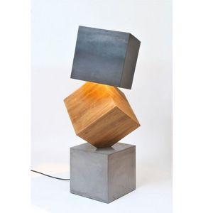 ATELIER MOBIBOIS - lampadaire design 3 kubes - Lampadaire