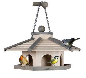 ZOLUX - mangeoire en bois atlantic 6 côtés 25x25x20cm - Maison D'oiseau