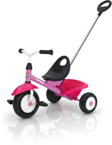 Kettler - tricycle rose funtrike avec canne poussoir 72x50x5 - Tricycle