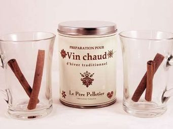 Le Pere Pelletier - coffret vin chaud traditionnel avec 2 tasses 24x20 - Gobelet