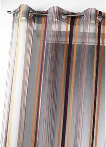 HOMEMAISON.COM - voilage organza tissé rayures verticales - Voilage