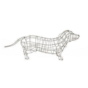 Marie Christophe - teckel - Sculpture Animalière