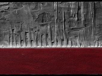 DEZIN-IN - rosso materico - Tableau Contemporain