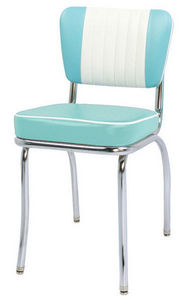 US Connection - chaise de diner malibu sh aqua/blanc - Chaise