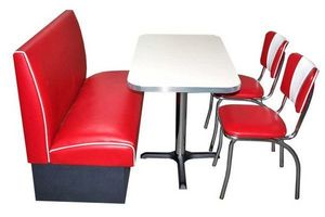 US Connection - set diner: banquette soda fountain avec 2 chaises - Coin Repas