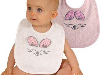 SIRETEX - SENSEI - bavoir bébé en forme de souris rose - Bavoir