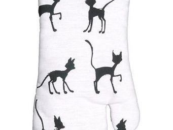 SIRETEX - SENSEI - gant à four imprimé chat rit varie - Manique