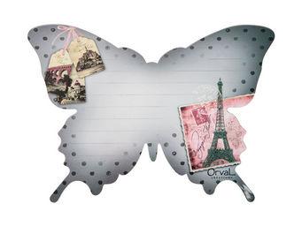 Orval Creations - m�mo magn�tique papillon voyage en france - Magnet �lectrom�nager