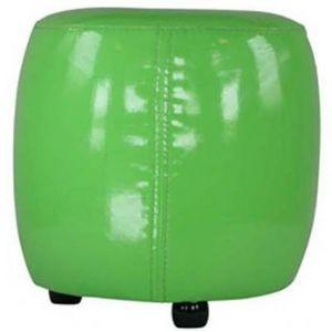 International Design - pouf rond pvc - couleur - vert - Pouf