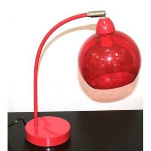 International Design - lampe arc boule - couleur - rouge - Lampe À Poser