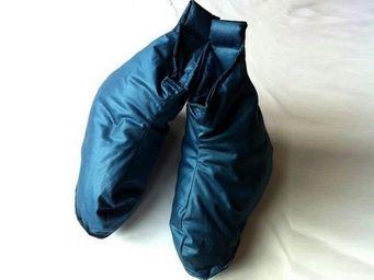 CASTEX couettes naturelles - chaussons duvet bleu nuit h/f - Chausson