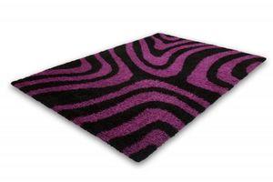NAZAR - tapis chillout 80x150 black-violet - Tapis Contemporain