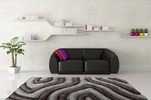NAZAR - tapis avantgarde 120x170 silver - Tapis Contemporain