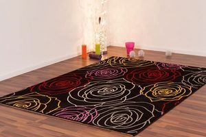 NAZAR - tapis freestyle 80x150 black - Tapis Contemporain