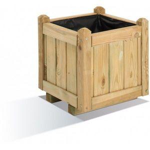 JARDIPOLYS - bac à fleur carre en bois 234 litres jardipolys - Bac À Fleurs